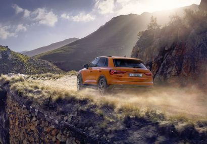 Orange shine of the new Audi Q3.